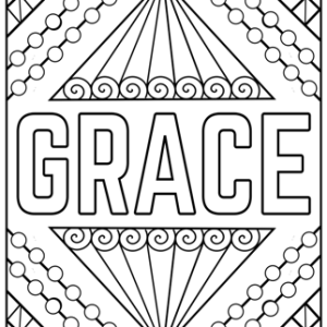 grace coloring sheet pdf