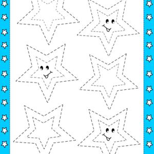 star tracing worksheet printable