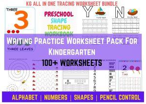 writing practice worksheet for nursery