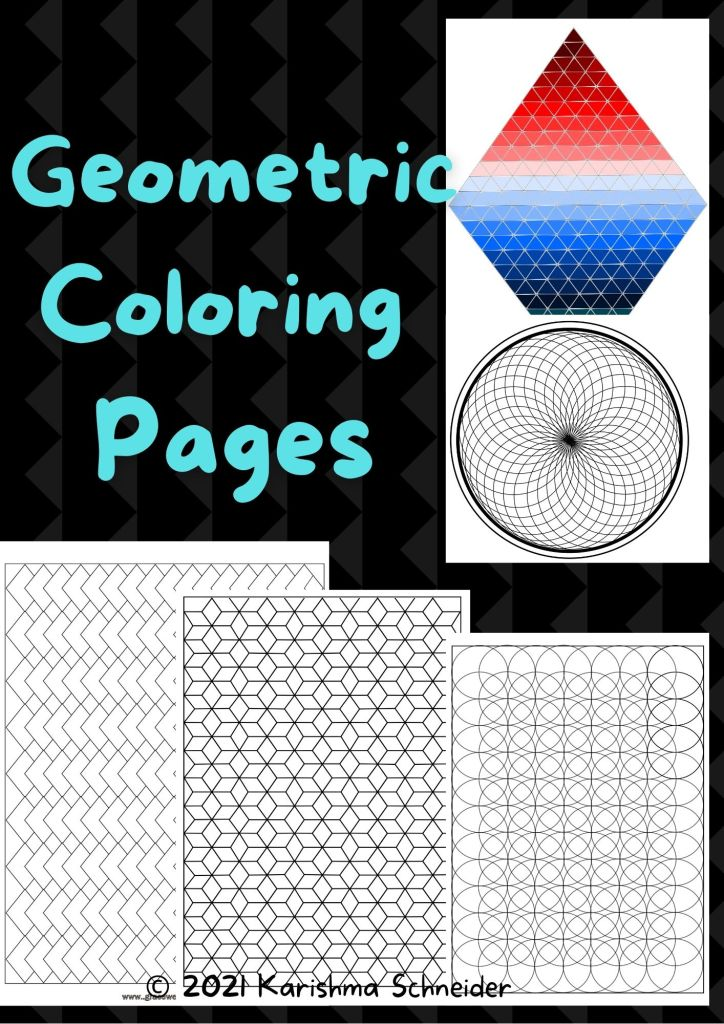 full page geometric coloring pages for adults