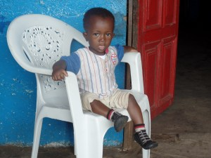 What a cute orphan boy!  One of many at this orphanage.