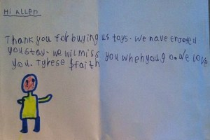Kenya Letter From Kids