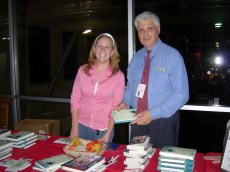Lou and Amy at the book table. They did an awesome job!