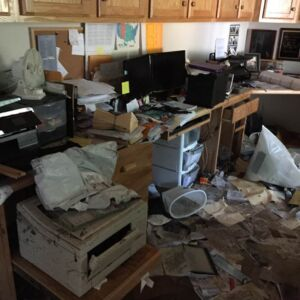 Gracia Burnham's Office after the water went through