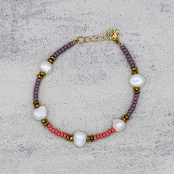 Armband - Pinky Pearls - GraciArt