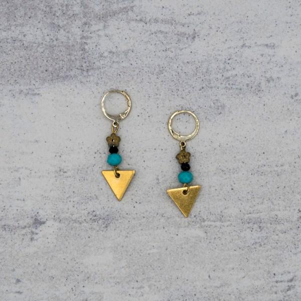 Oorbellen - Blue Triangle - GraciArt