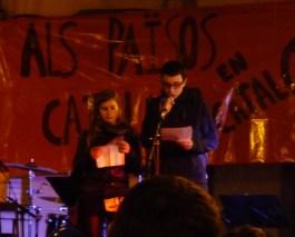 Membres de l'esquerra independentista llegiren el manifest