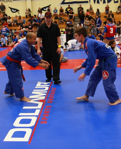 Stepping out on the mats in BJJ