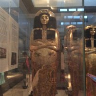 One of the mummies at the British Museum! It was amazing there