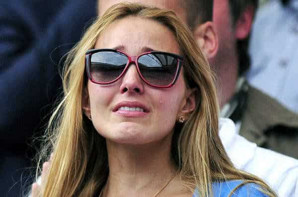 Jelena Ristic crying with emotion