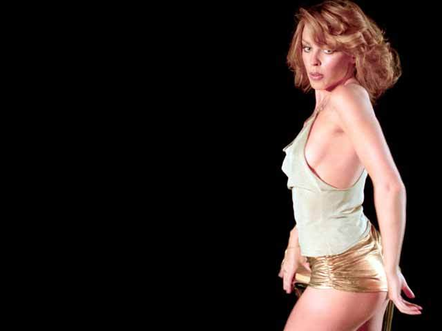 Kylie Minogue, gold hot pants