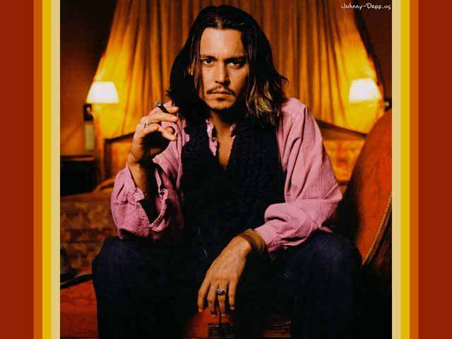 Johnny Depp Fashion Icon - He Knows how to dress - Pink shirt
