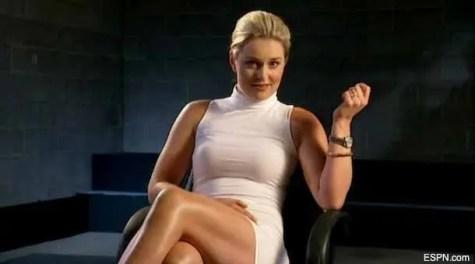 Lindsey Vonn - showing a basic instinct pose