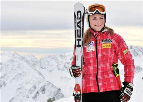 Lindsey Vonn in ski outfit