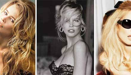 Claudia Schiffer – Models the Guess, 60's Flare