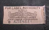 Fur Label Authority Tag
