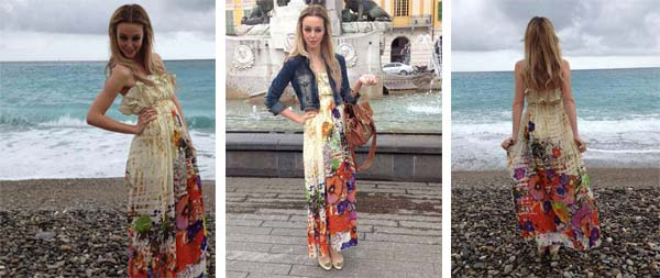Street Fashion – Laura's Embracing The Floral Maxi Dress