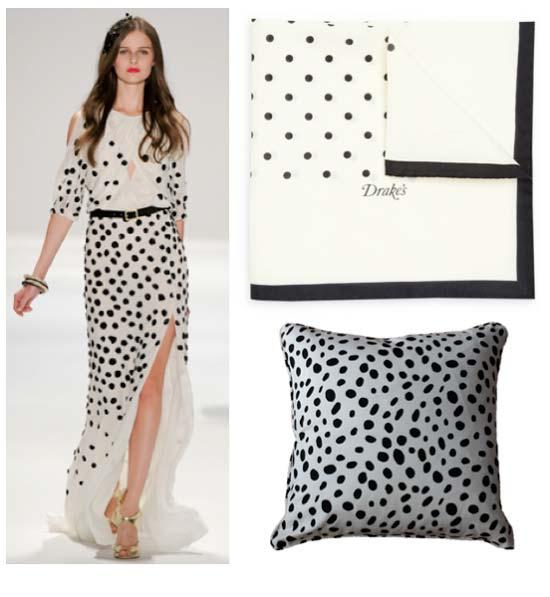 polka dott dresses 2012 black and white