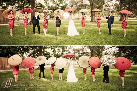 Lollipop Umbrella - Vintage Wedding shot