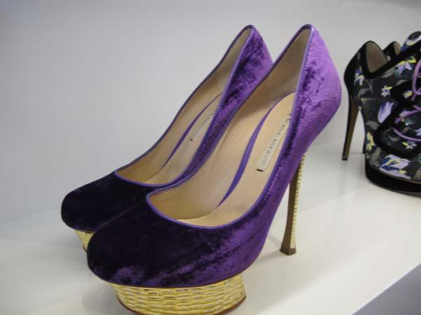 Nicholas Kirkwood  Shoes velvet purple shoes