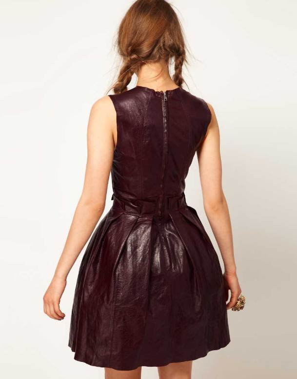 ASOS blood Ox Leather Dress 2013 - Back View