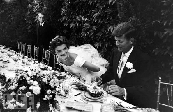 jackie kennedy on their wedding day 1960