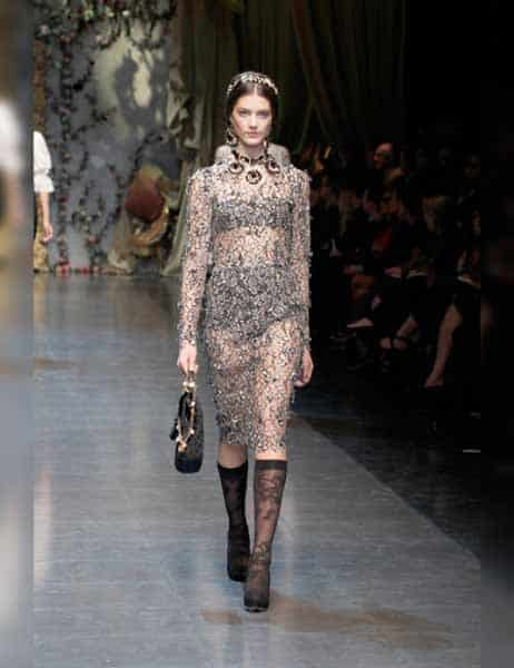 Dolce & Gabbana - Opulent Womens Lace Fashion 2013 (13)