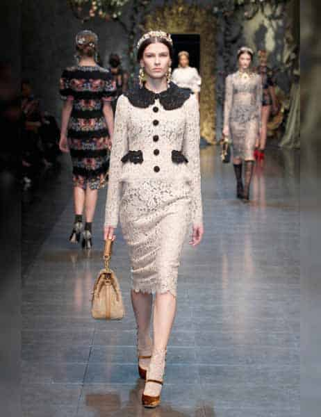 Dolce & Gabbana - Opulent Womens Lace Fashion 2013 (14)