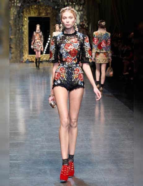 Dolce & Gabbana - Opulent Womens Lace Fashion 2013 (16)