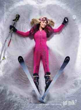 Lindsey Vonn in pink ski outfit