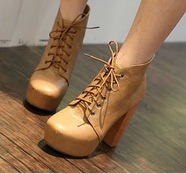 Boots with sqaure heels