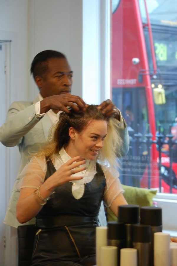Kevin Fortune London Fashion Week hairdresser September Susie Street