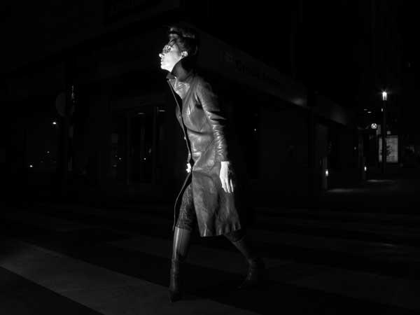 Gracie Opulanza - Wearing Black Leather Vintage coat