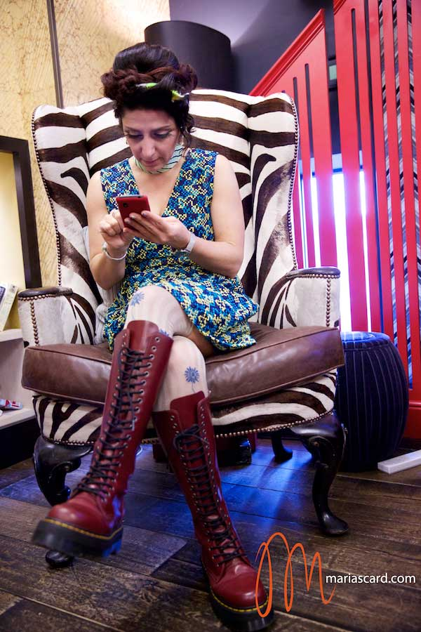 Gracie Opulanza - Wearing Bimba & Lola Dress, Dr Martins Red Boots, Vintage Mink Jakcet and Styled by Zoe Della Rocca (7)
