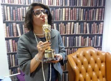 gracie-opulanza - holding an Oscar 2014