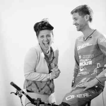 Greg Minnaar DownHill Mountain Biker 3 time world Champion & Gracie Opulanza