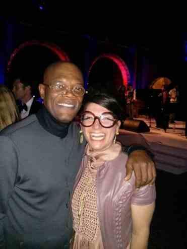 Gracie Opulanza and Samuel L Jackson