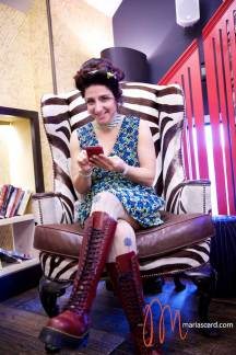 Gracie-Opulanza-Wearing-Bimba-Lola-Dress-Dr-Martins-Red-Boots-Vintage-Mink-Jakcet-and-Styled-by-Zoe-Della-Rocca-8