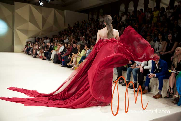 Fashion Forward Dubai – Jean Louis Sabaji Collection with Feathers