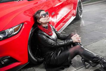Ford Mustang GT V8 Gracie Opulanza fendi, leather dress 2015 (3)