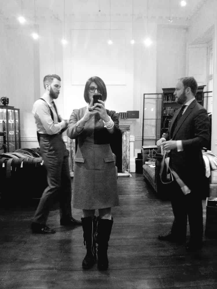 Cad And The Dandy savile row 2014 getting measured for a bespoke suit in London Uk (2)