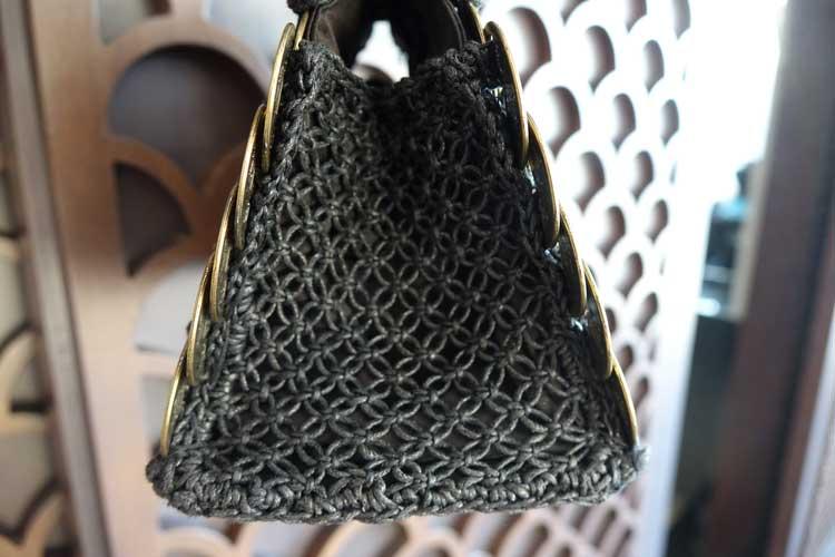 Bali coin metal bespoke fabric purse bag gracie opulanza (5)