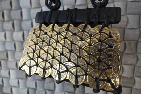 Bali coin metal bespoke fabric purse bag gracie opulanza (8)