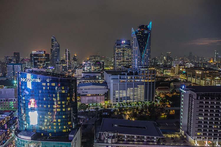 Bangkok city centre skyline