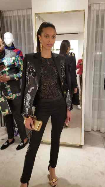 Versace 2018 Catwalk London Gracie Opulanza (14)