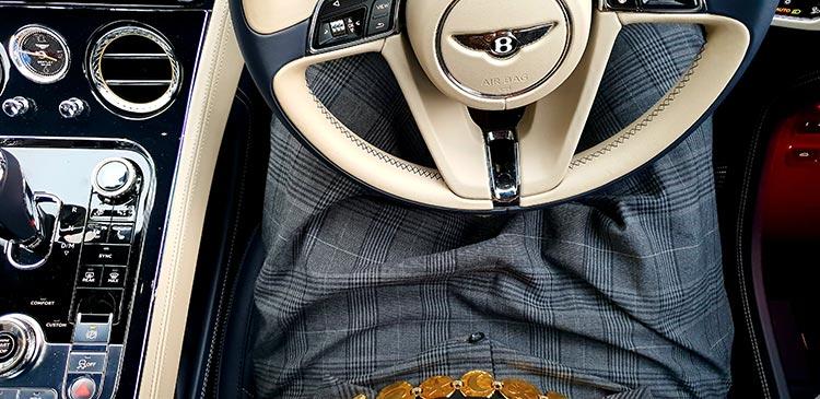 YVL 1980 gold plated belt Bentley GT