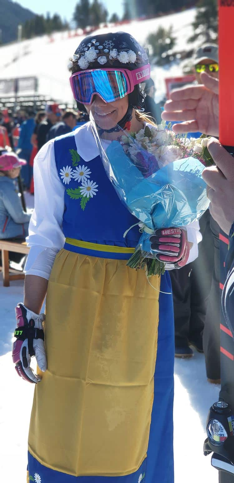 Frida Hansdotter, a Swedish skier