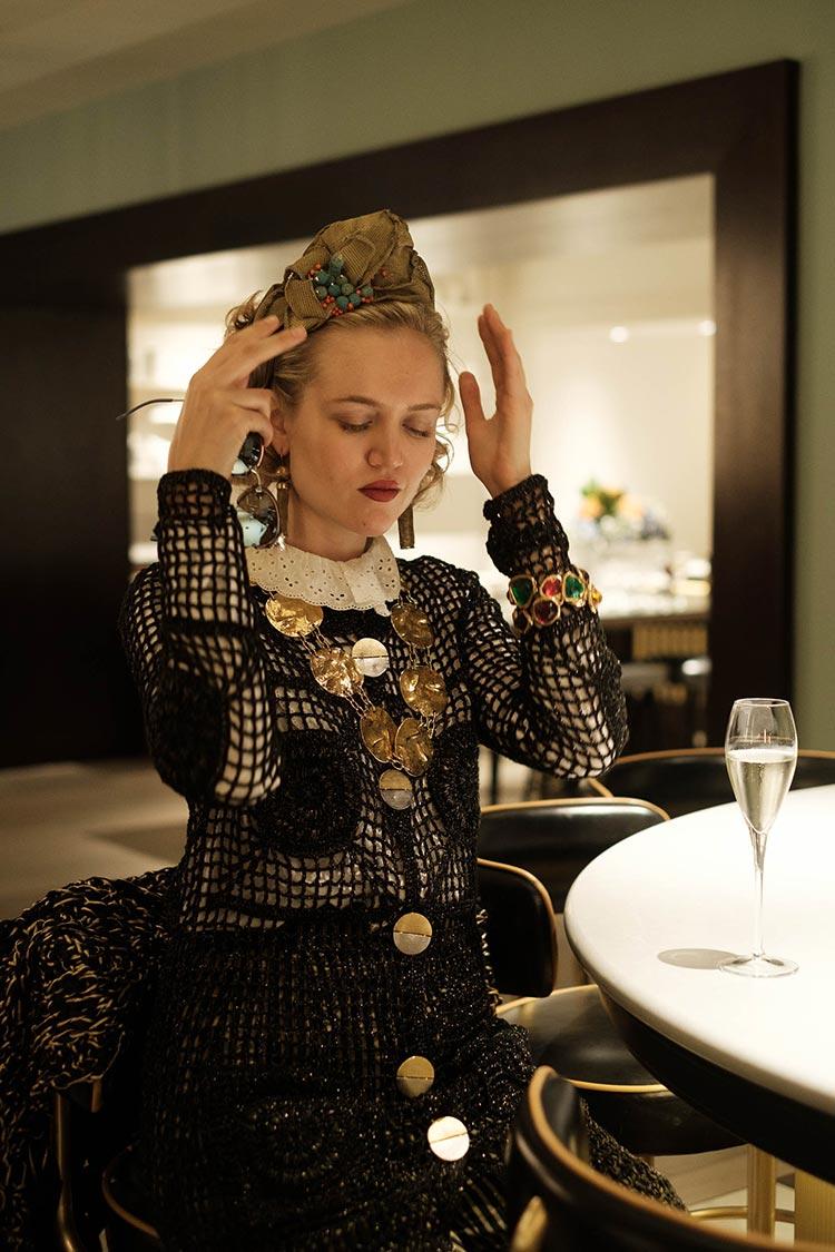 MIHAELA MARKOVIC 2019 Knitwear Black Strand Palace Hotel London United Kingdom Fashion (27)