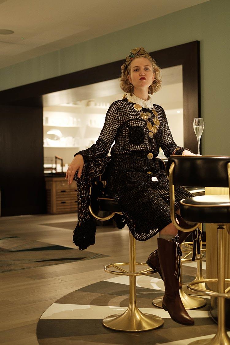 MIHAELA MARKOVIC 2019 Knitwear Black Strand Palace Hotel London United Kingdom Fashion (25)