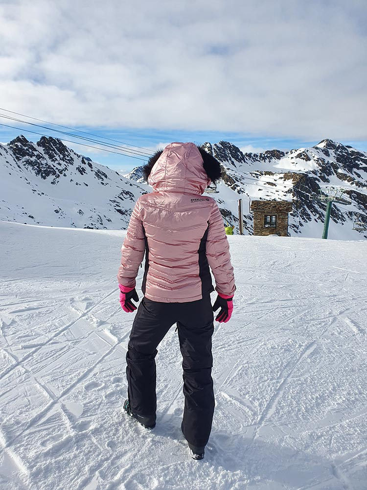Superdry Pink snow puffer jacket